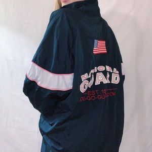 USA Patch National Guard Windbreaker Rain Jacket